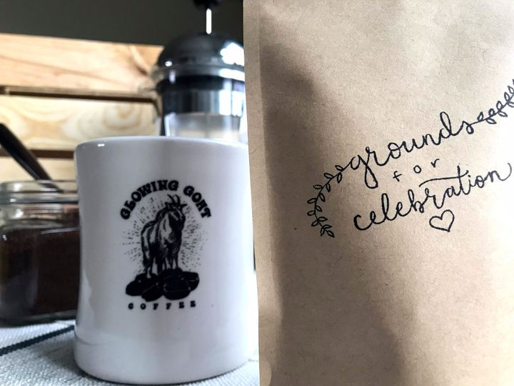 Each bag is hand-stamped