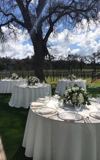 Vineyard View - Table Settings