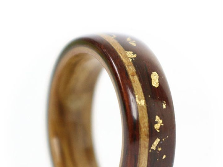 Tmx 1457560587256 Rosewood Ring With Oak Liner Koa Inlay And Gold Le Chicago, IL wedding jewelry