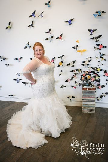 lori and bart indianapolis real wedding plus size