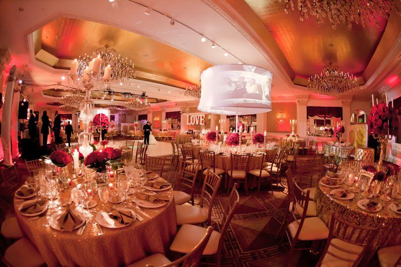 Pink wedding venue