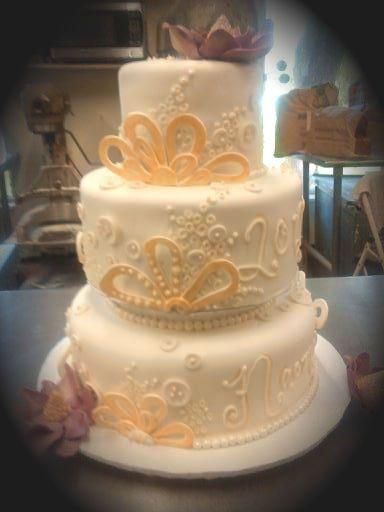 Tmx 1362857907157 Weddingcake3 Eatonville wedding cake