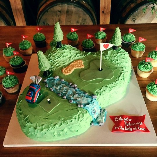 Golf theme Groom's cake