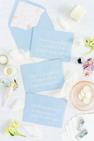 Bluebell envelope + white ink
