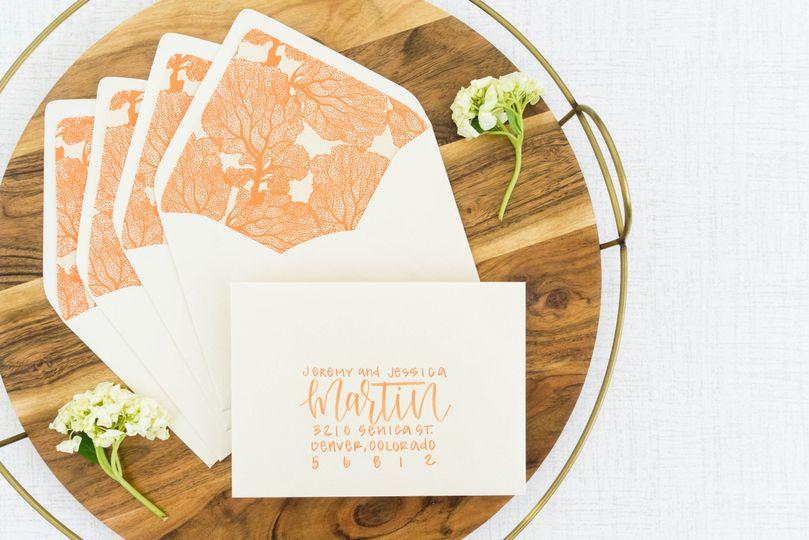 Opal envelope + orange brush l