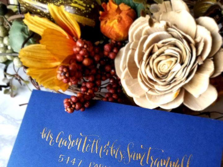 Tmx 1519445602 2c539dd1be0cf86c 1519445598 99edb10f389347dc 1519445582090 9 Calligraphy Allie  Seattle, Washington wedding invitation
