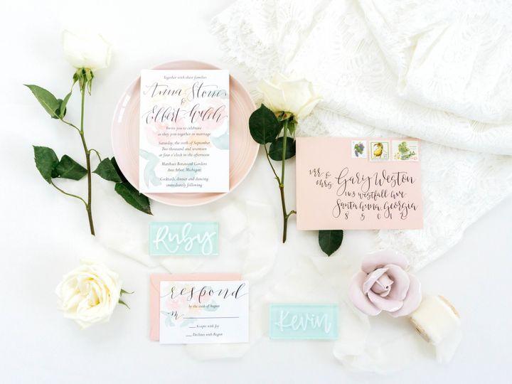 Tmx Love Fern Good 0026 51 1000231 Seattle, Washington wedding invitation