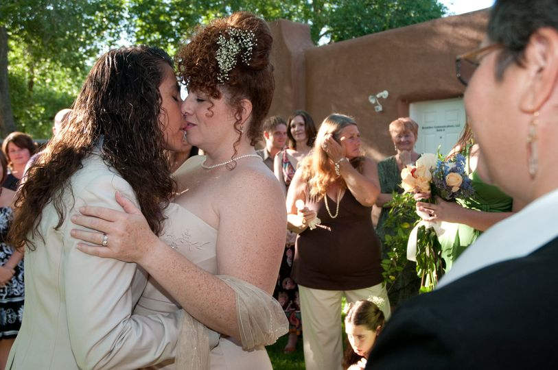 Rev. Gwen performed her first lesbian wedding in Corrales.