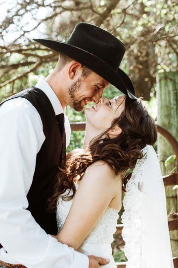A candid kiss