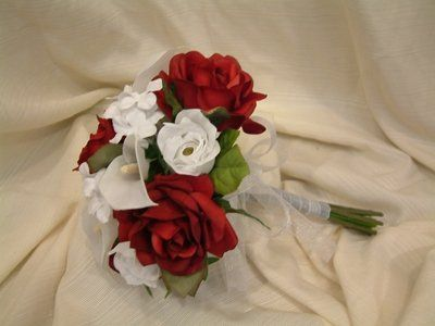 Roses, Callas, Stephanotis.  Great Bridesmaid Bouquet Can be Coordinated with Any Color Scheme!...