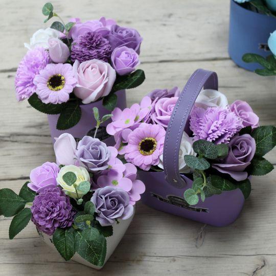 Petite soap flower bouquets