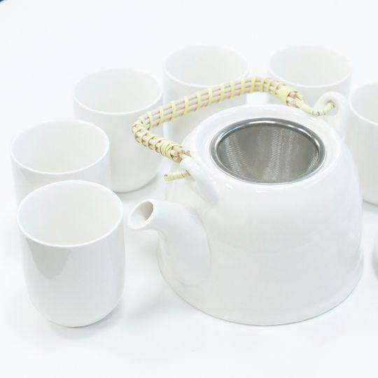 Classic white ceramic tea set