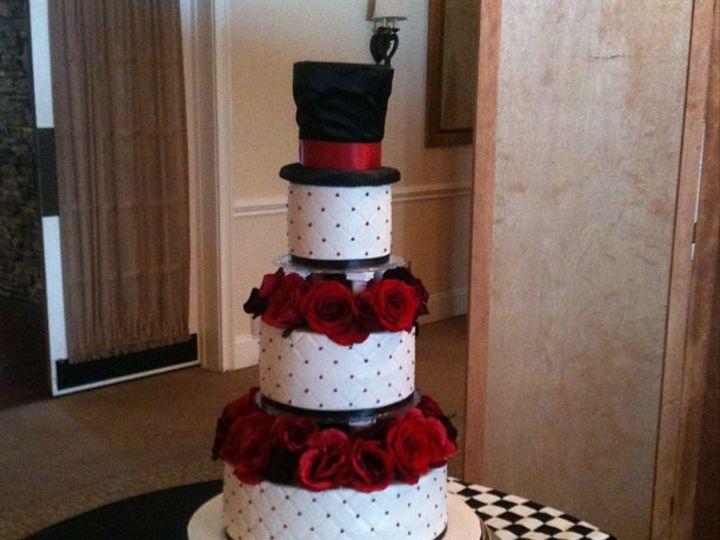 Tmx 1455548116757 Alice In Wonderland Wedding Middlefield, CT wedding cake