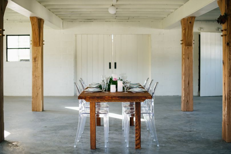 Farm table in Parlor