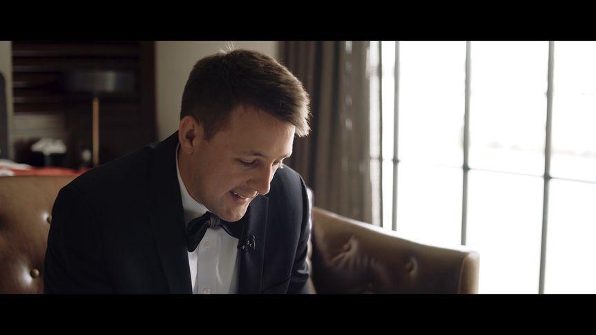 Chris reading letter.