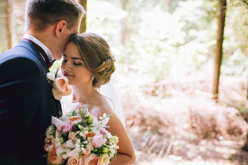 Beautiful newlyweds
