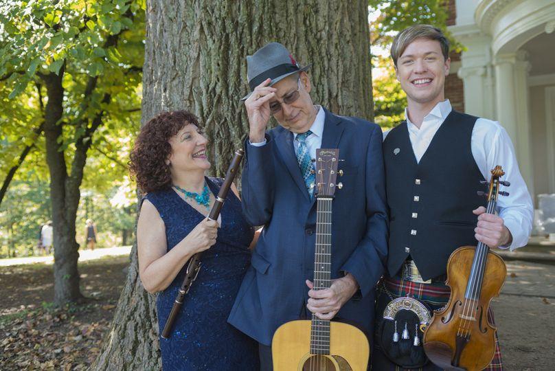 Trio: flute, guitar & fiddle