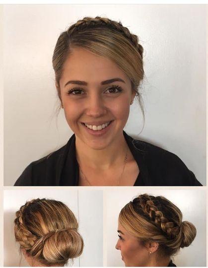 braided bridal updo bun hair style