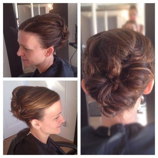 classic bridal bun french hair style
