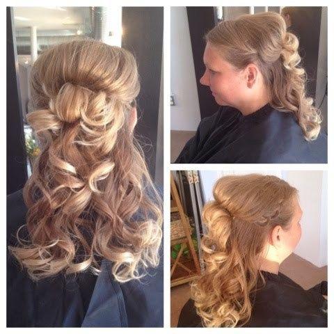 marilyn monroe curly bridal ponytail hair