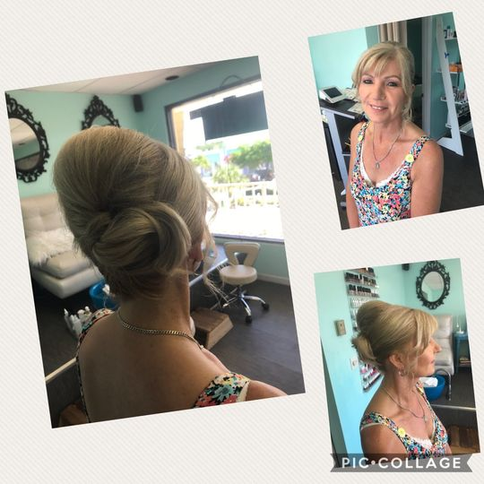 classic bridal french roll updo hair