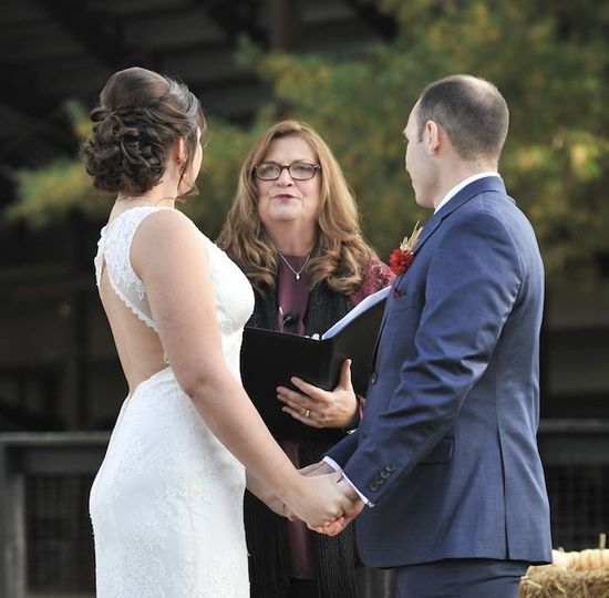 Blessing the ceremony