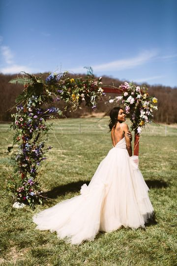 Bride in the paddocks