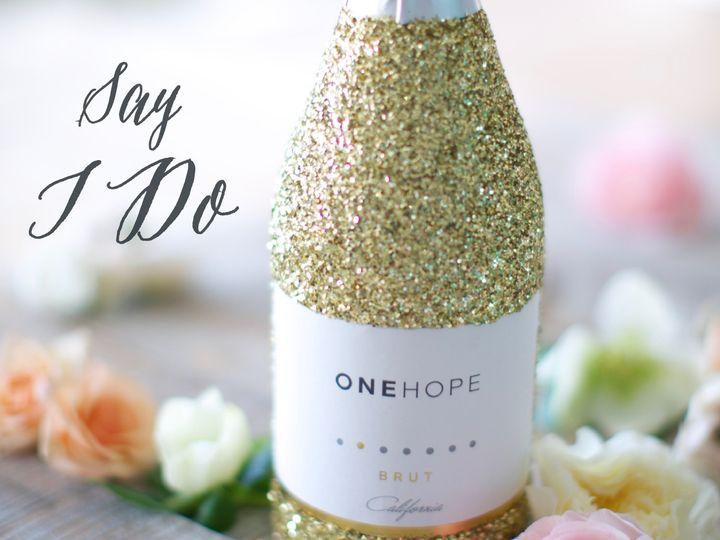 Tmx Shareable Gold Glitter Say I Do 51 948231 Carnation wedding favor