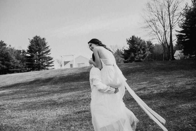 Playful bridal portraits