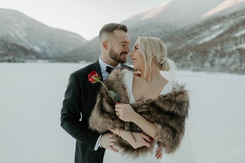New Hampshire winter wedding
