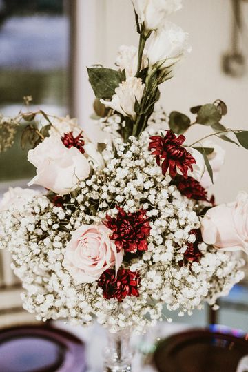Fresh floral center piece