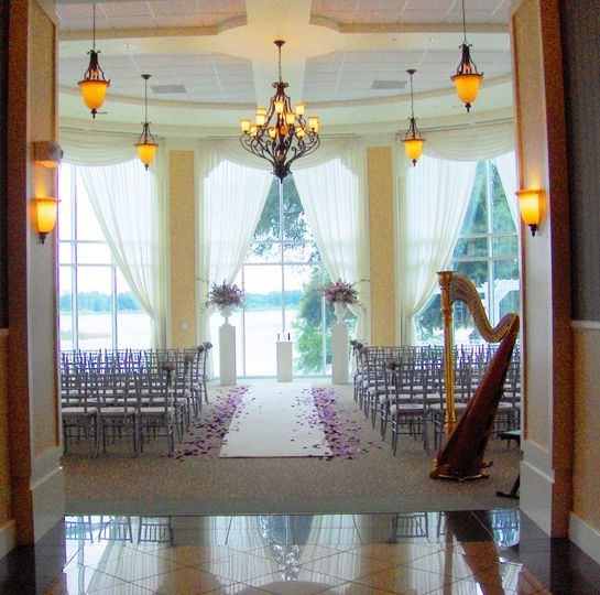 Indoor wedding ceremony venue