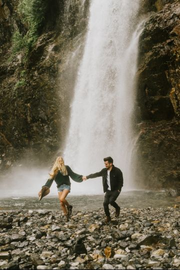 Franklin Falls Engagement