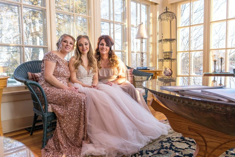 Bridal Party in Mansion