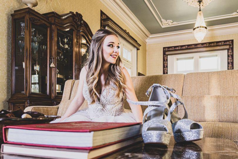 Bride in Mansion