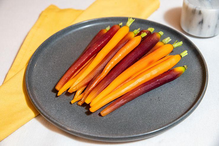 Honey glazed heirloom carrots