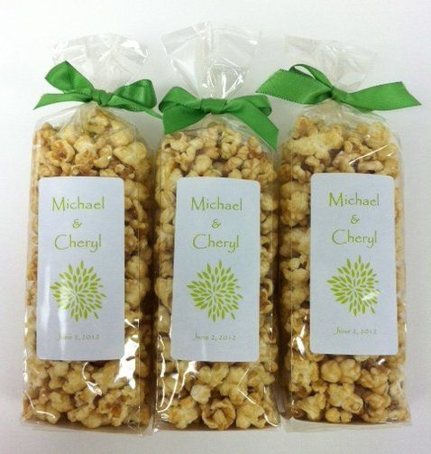Custom popcorn favors by Popsations Popcorn Company