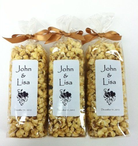 Custom popcorn wedding favors by Popsations Popcorn Company