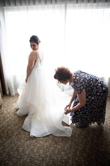 Bridal updo shot