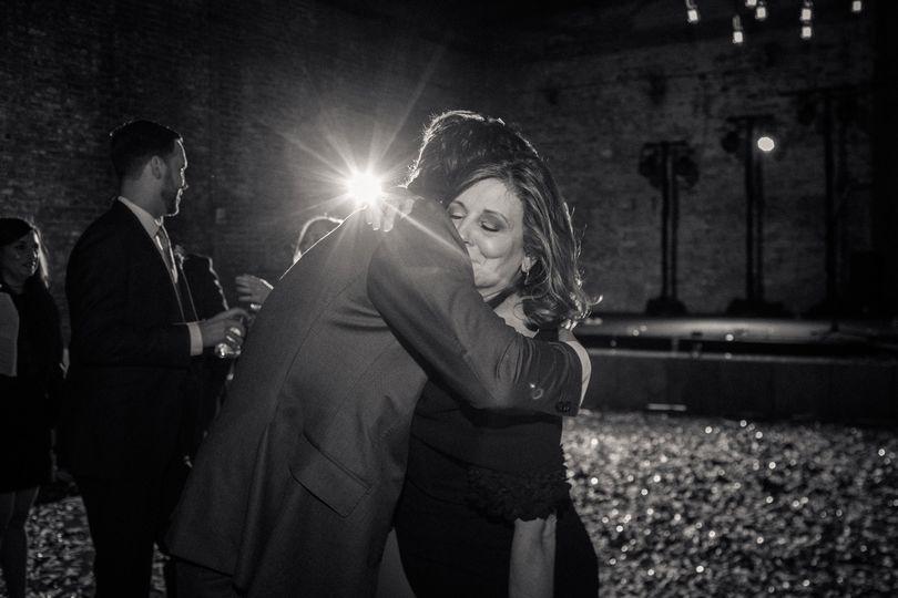 Mother of the groom hug