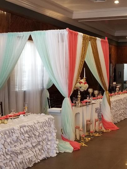 The colorful wedding arch