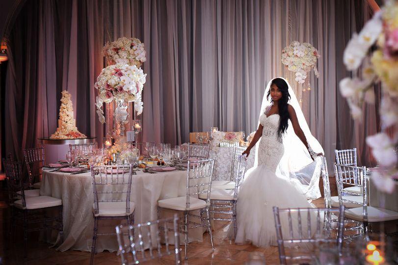 Bride in the reception hall