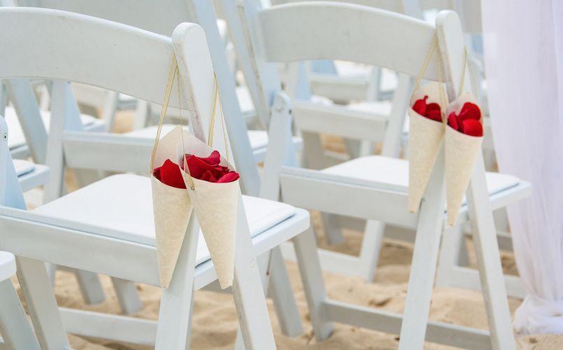 Wedding chair flower decor