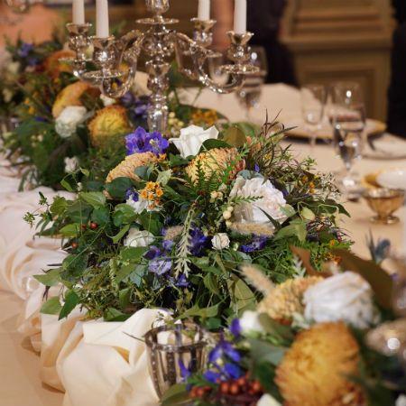 Tmx 1503603422022 Video Shoot Fresh Floral Table Runner Asheville, North Carolina wedding florist