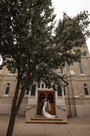 Bride and Groom Church