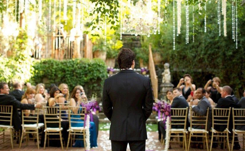 Creative shot of the groom