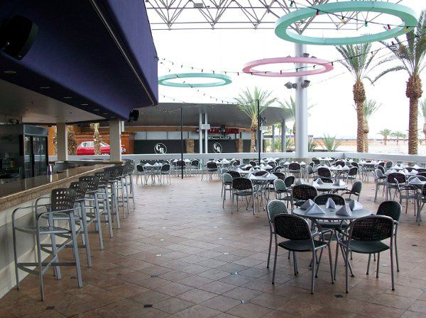Roof Top Patio at Dave & Buster's Tempe. Incredible for weddings, receptions and rehearsal dinners.
