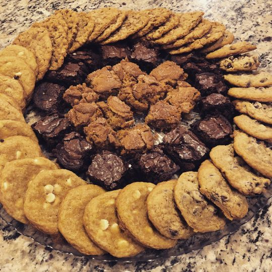 Cookie and bar platter