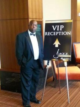 By the VIP reception