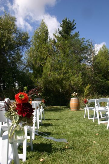 The ceremony lawn